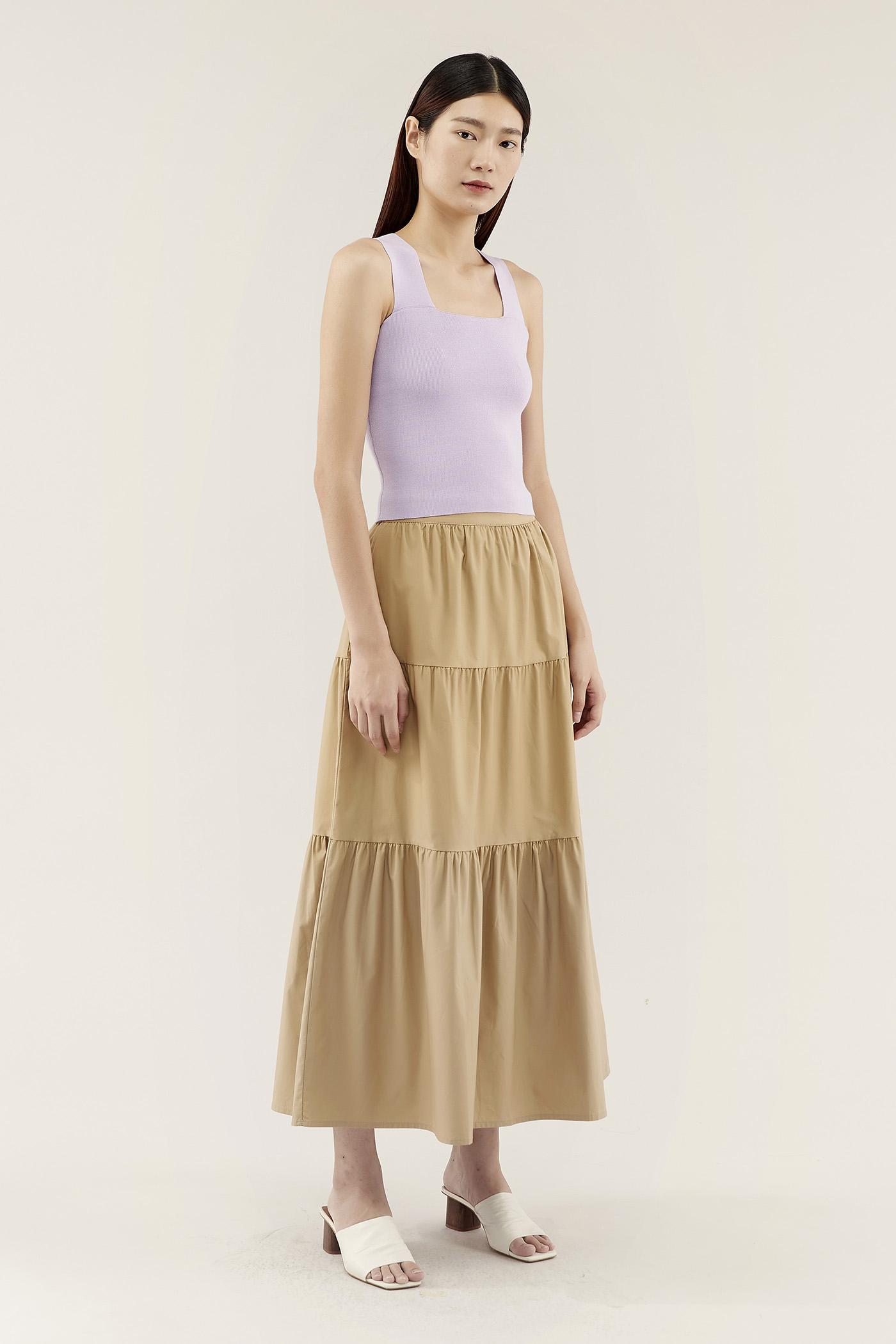 Karleah Tiered Skirt