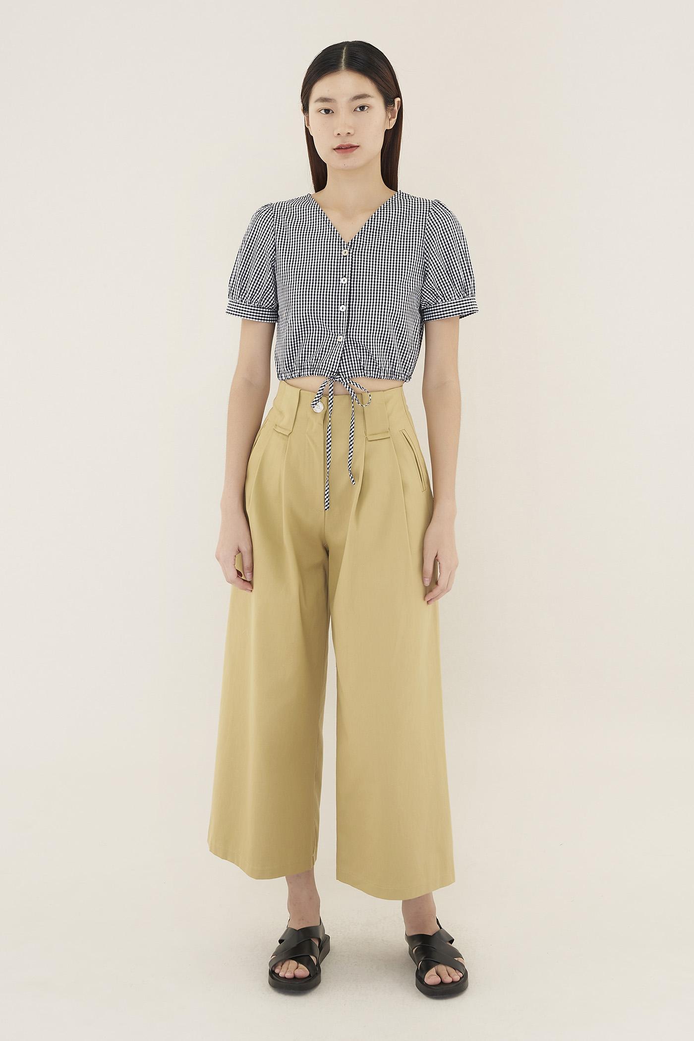Yovela Wide-pleat Pants