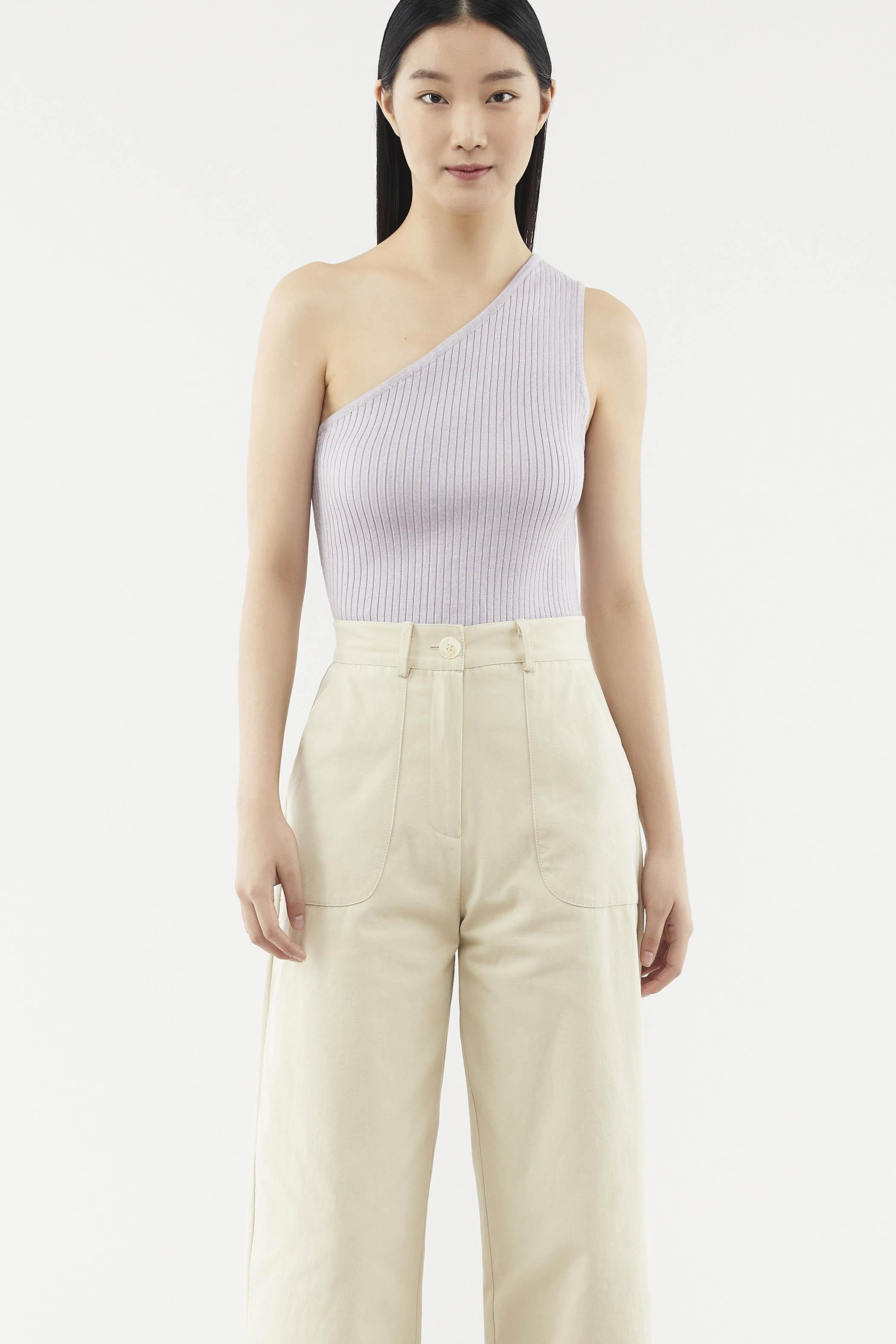 Leandra One-shoulder Knit Top