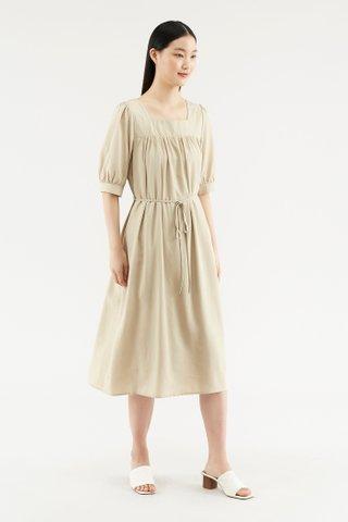 Katyna Puff-sleeve Dress
