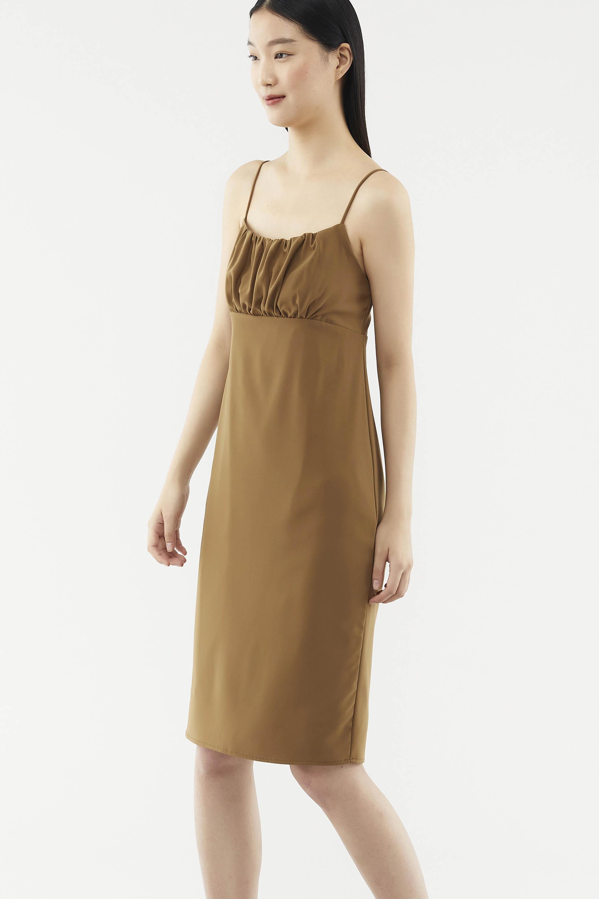 Crissa Ruched Slip Dress