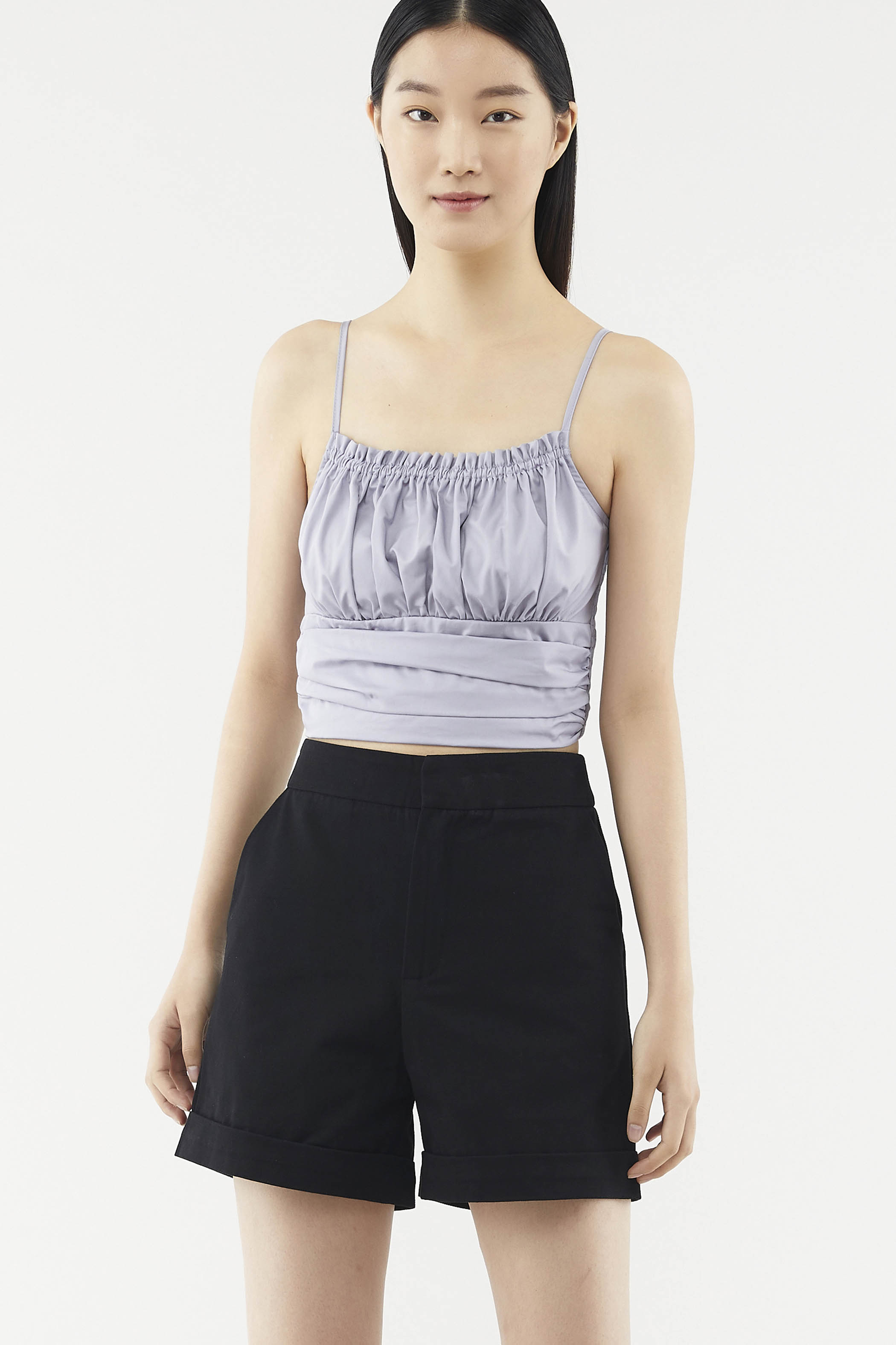 Talley Ruched Crop Top