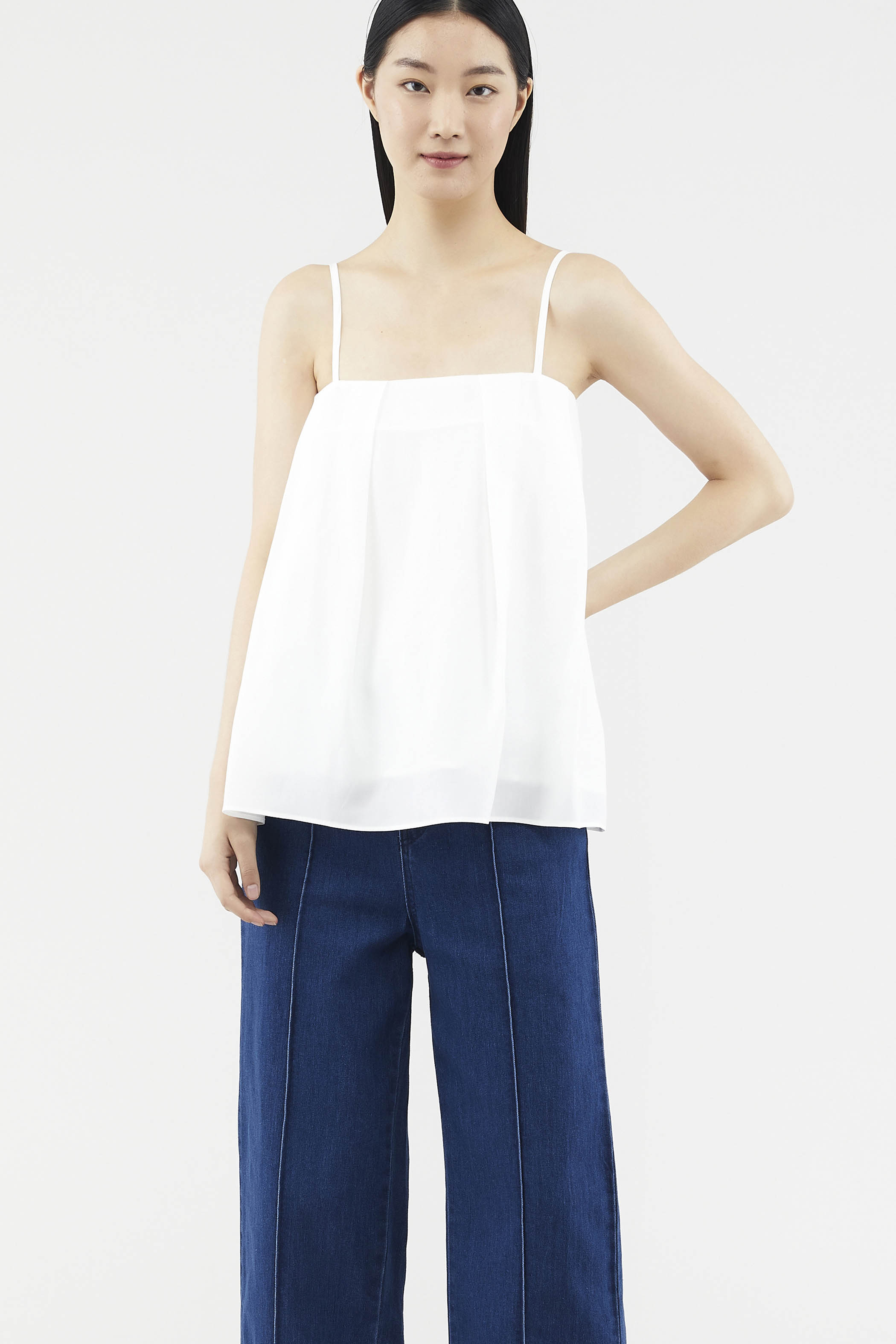 Tiesha Side-pleat Top