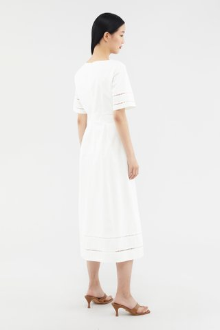 Imelda Eyelet-trim Dress