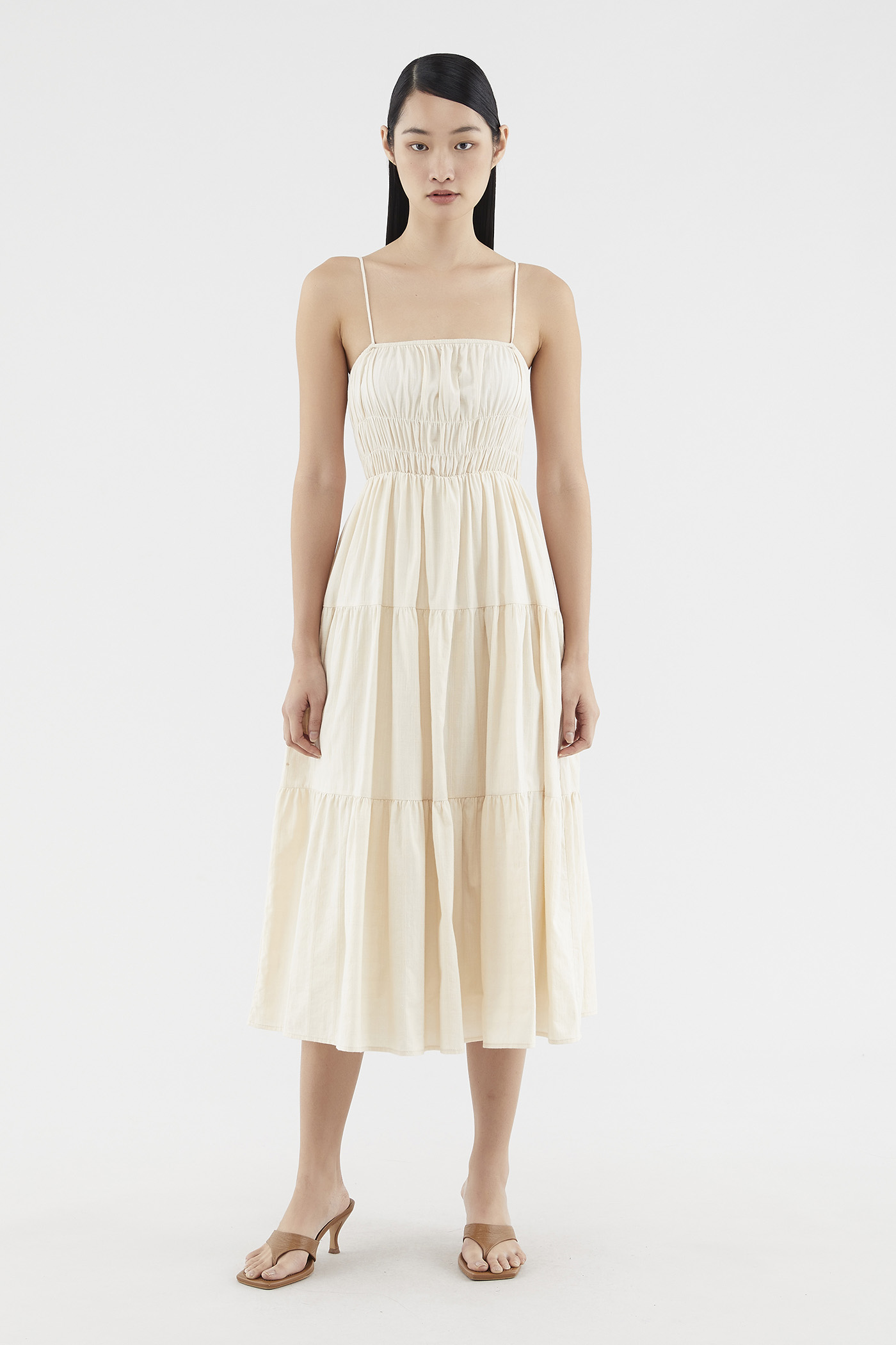 Karisa Shirred Maxi Dress