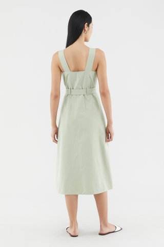 Amina Square-neck Dress