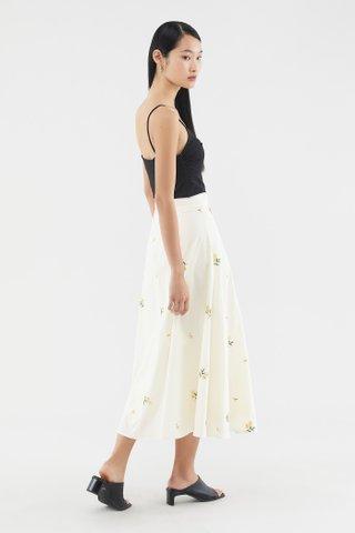 Elisya Broderie Midi Skirt
