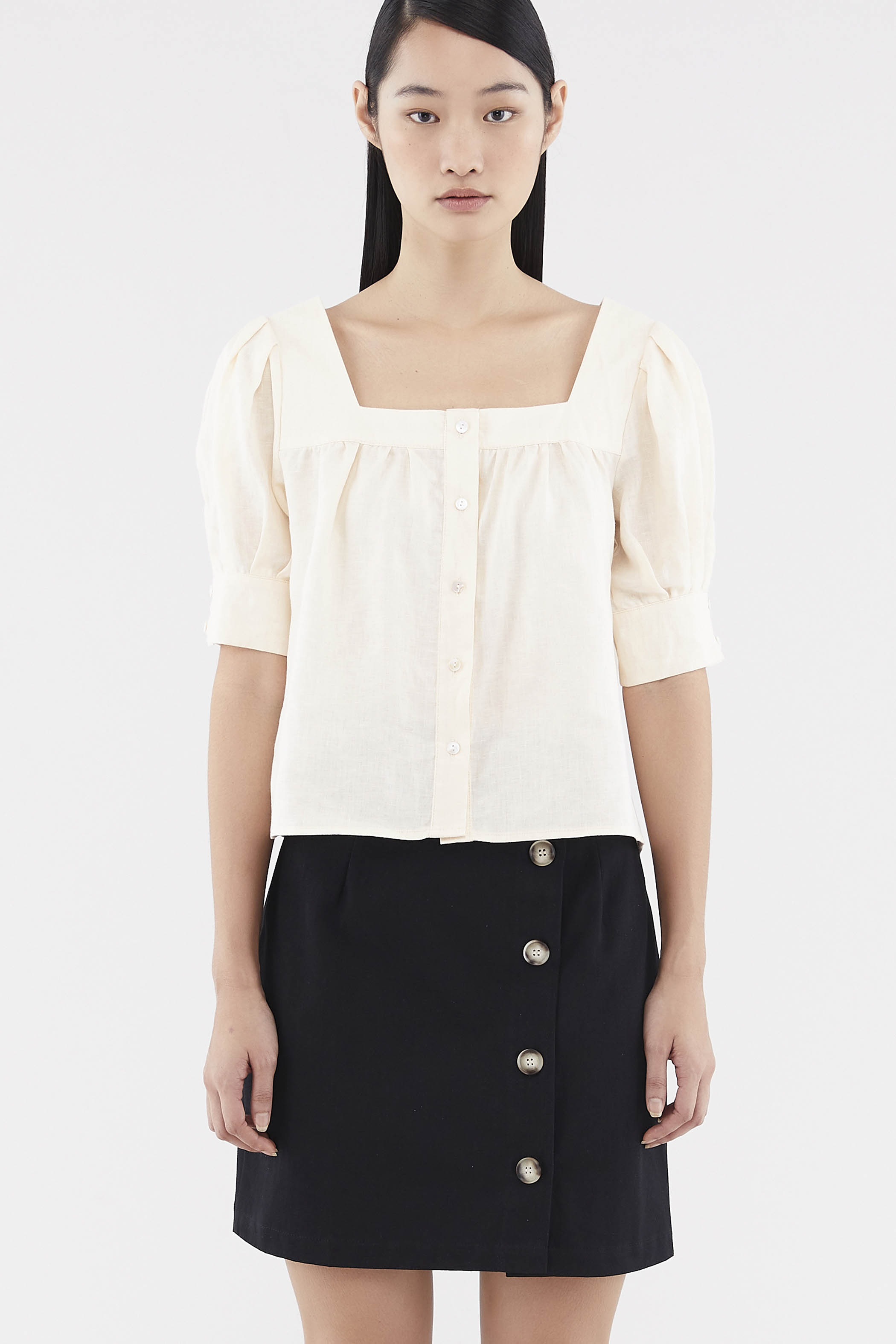 Poppy Square-neck Blouse